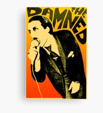 Dave Vanian - The Damned Tour Poster Canvas Print