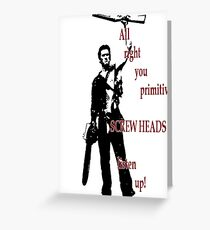 Army of Darkness- Screw Heads Greeting Card