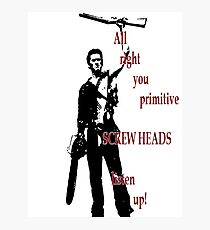 Army of Darkness- Screw Heads Photographic Print