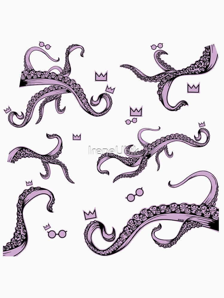 Tentacle Lovecraft Inspired Pattern by ladykraken