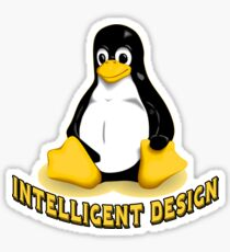 Linux Penguin Intelligent Design Sticker