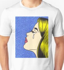 Blonde Crying Comic Girl T-Shirt