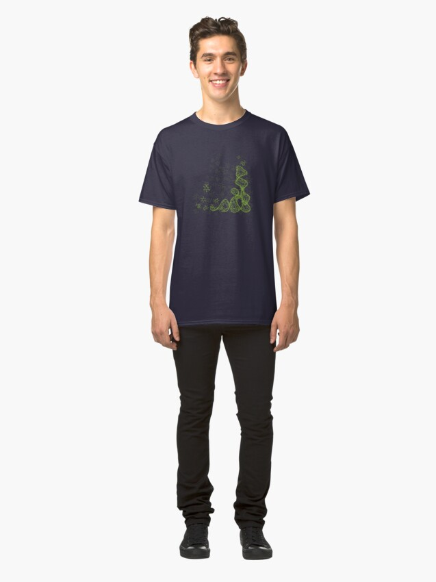 Alternate view of tRNA (transfer RNA) structure - bright green Classic T-Shirt