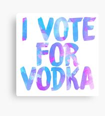 I love vodka college party sticker Metal Print