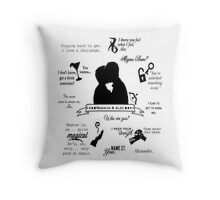 Malec Quotes Throw Pillow