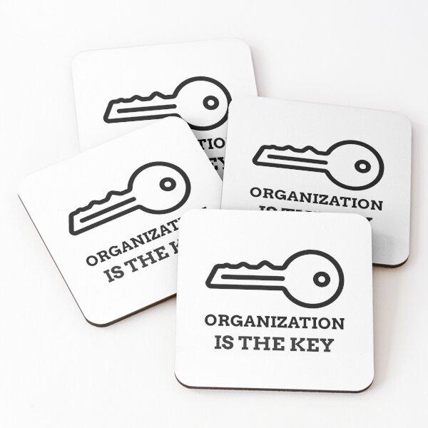 ORGANIZATION IS THE KEY  Coasters (Set of 4)