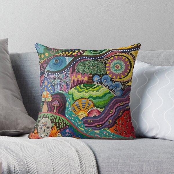 Psychedelic garden #1 Throw Pillow
