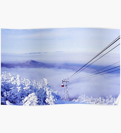 Tram in the Clouds on Cannon Mountain Poster