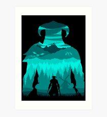 Dragonborn Silhouette Art Print