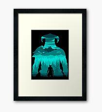 Dragonborn Silhouette Framed Print