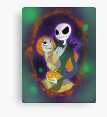 The Pumpkin King and Queen Canvas Print