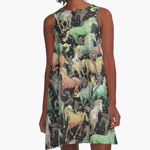 Ninjas+Unicorns A-Line Dress