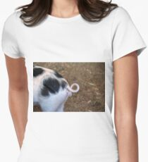 Pig Tail Women's Fitted T-Shirt