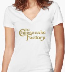 The Cheesecake Factory Women's Fitted V-Neck T-Shirt
