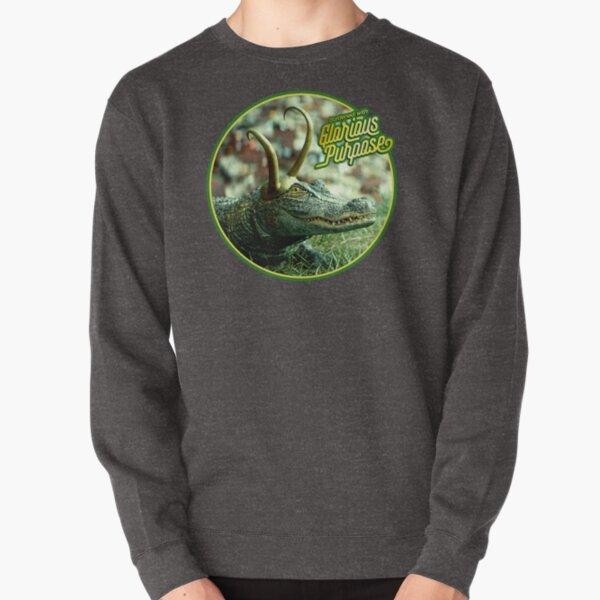 GatorLoki Burdened with Glorious Purpose (Alligator) Pullover Sweatshirt
