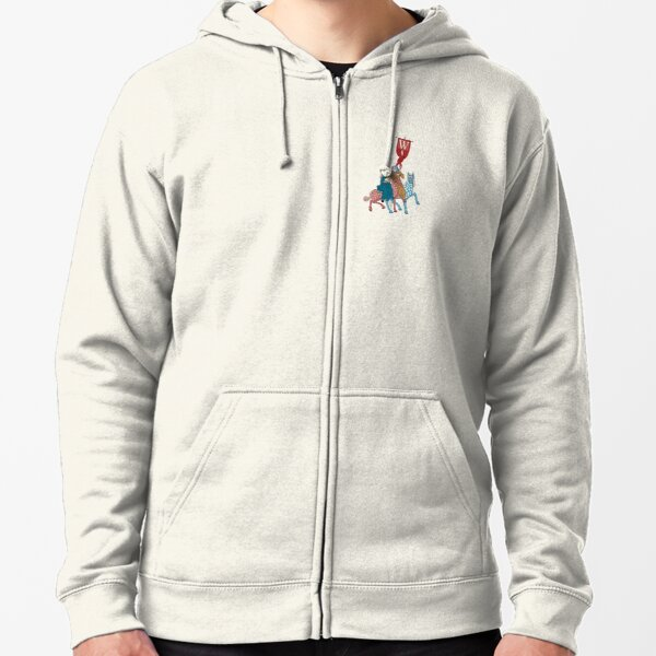 WesterosCraft Rookery Horse Riders and Banner Illustration Zipped Hoodie