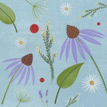 Echinacea Lavendar Daisy A by DionisiSandra