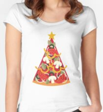 Pizza on Earth - Vegetarian Women's Fitted Scoop T-Shirt