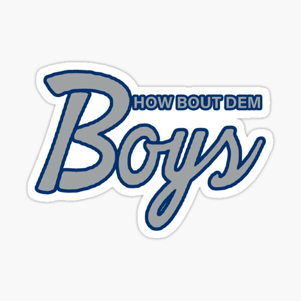 HOW ABOUT DEM BOYS 1990S SNAPBACK SHIRT AND STICKER  Sticker