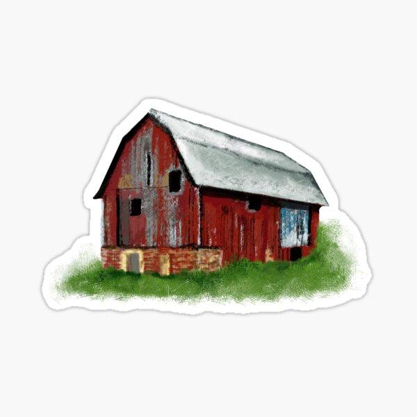 Old barn Sticker