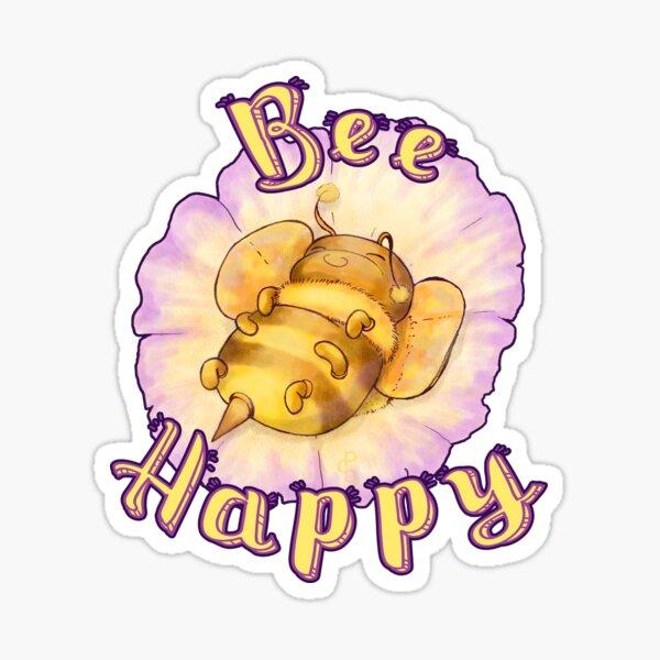 Bee Happy (Yellow) Sticker