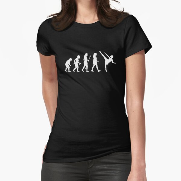 Funny Ballet Evolution Silhouette Fitted T-Shirt