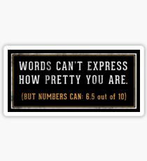 Words Can't Express Sticker