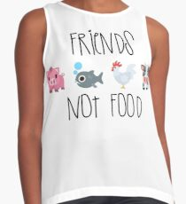Freunde nicht essen Kontrast Top