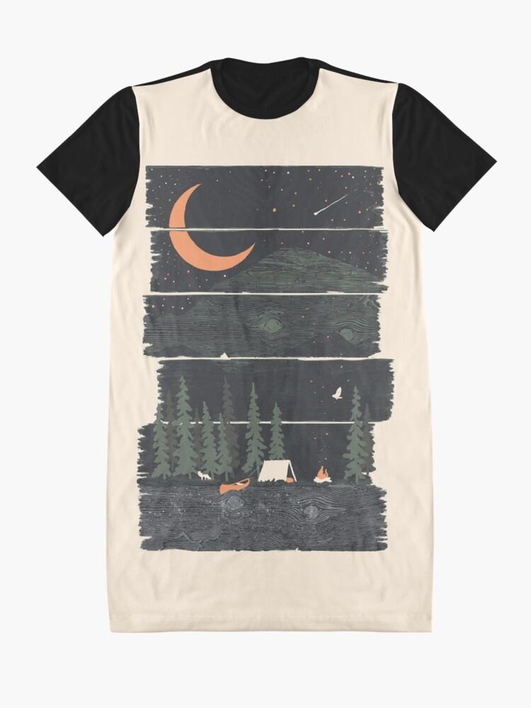 Alternate view of Wish I Was Camping... Graphic T-Shirt Dress