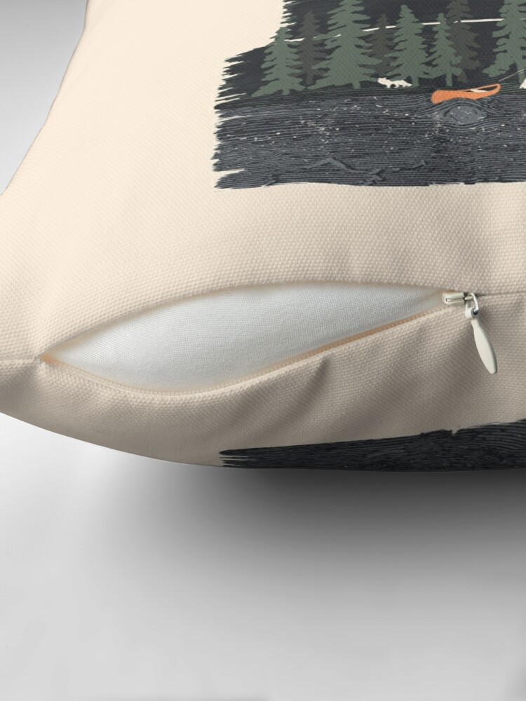 Alternate view of Wish I Was Camping... Throw Pillow