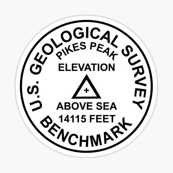 Pikes Peak, Colorado USGS-Stil-Benchmark Sticker