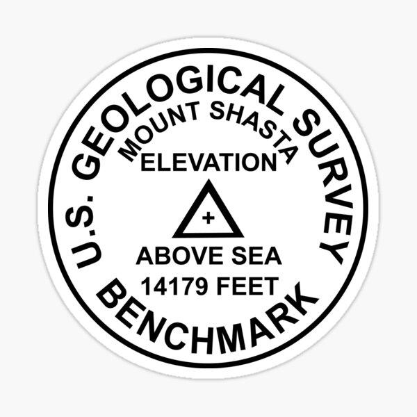 Mount Shasta, Kalifornien USGS Style Benchmark Sticker