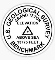 Grand Teton, Wyoming USGS Style Benchmark Sticker