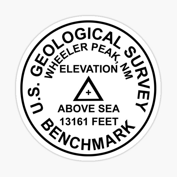 Wheeler Peak, New Mexiko USGS Style Benchmark Sticker