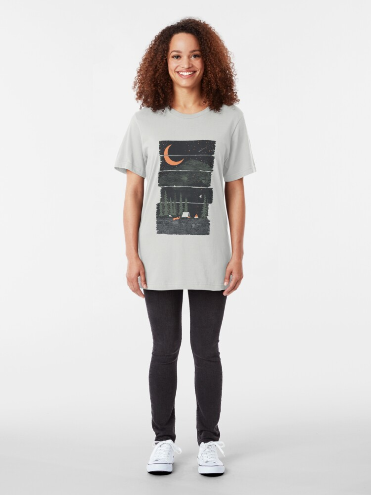 Alternate view of Wish I Was Camping... Slim Fit T-Shirt