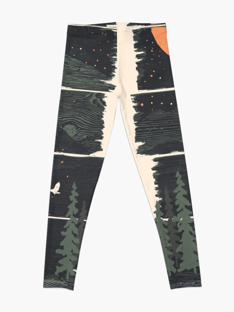 Alternate view of Wish I Was Camping... Leggings
