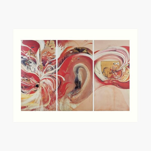 Brett Whiteley - American Dream (section of) (1968-69) oil on canvas. High quality reproduction of the original artwork. Art Print