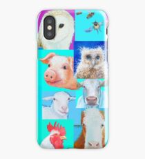 Animal paintings collage for nursery wall iPhone Case/Skin