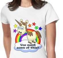 Unicorn - You Want Some of This? Womens Fitted T-Shirt