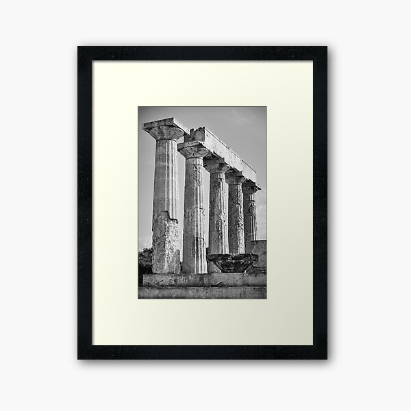 Columns of Temple of Aphaea Framed Art Print