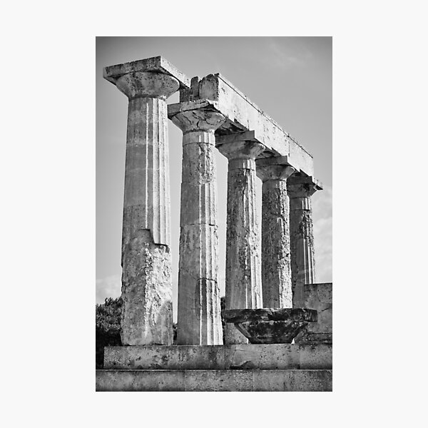 Columns of Temple of Aphaea Photographic Print