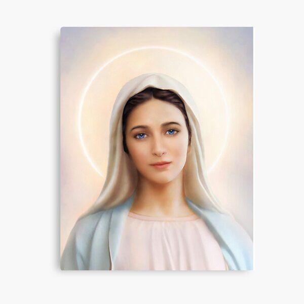 Our Lady of Medjugorje poster,The Queen of Peace Virgin Mary Kraljica Mira  Canvas Print