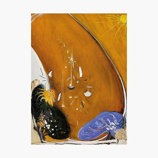 Brett Whiteley - In the Bottom Park at Lavender Bay there is a Jacaranda and a Gardenia Tree (1984-85). High quality reproduction. Photographic Print