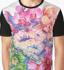 """Year of the Snake"" - Chinese Zodiac Watercolour  Graphic T-Shirt"