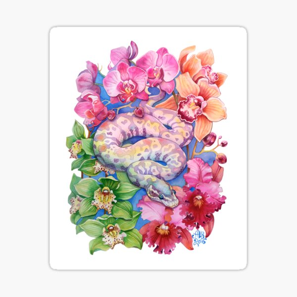 """Year of the Snake"" - Chinese Zodiac Watercolour  Sticker"
