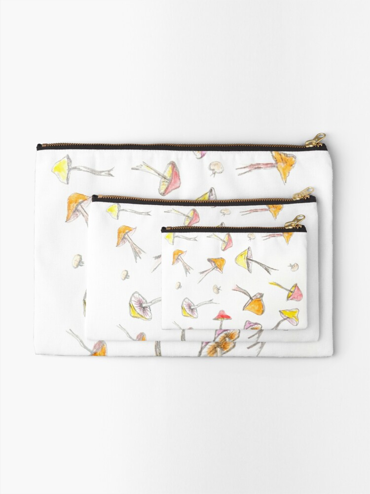 Alternate view of Mushroom Fantasy Pencil and Acrylic  Zipper Pouch