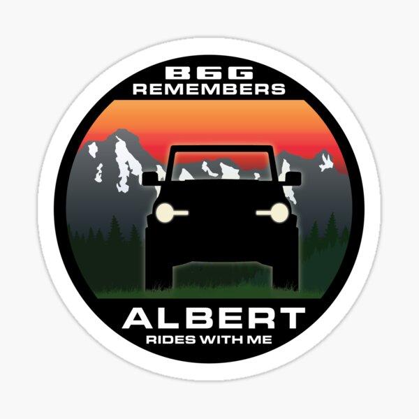 In Memory of Albert - Rockies version Sticker