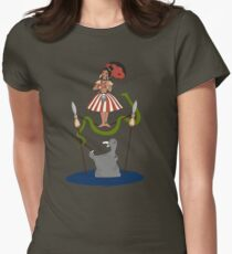 Jungle Cruise vs. Haunted Mansion Women's Fitted T-Shirt