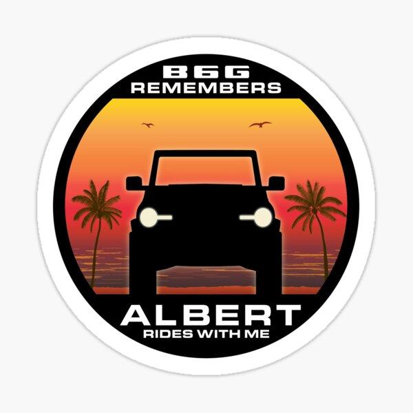 In Memory of Albert - Sun & sand version Sticker