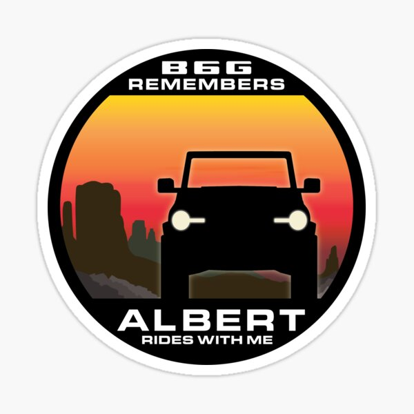 In Memory of Albert - Desert version Sticker
